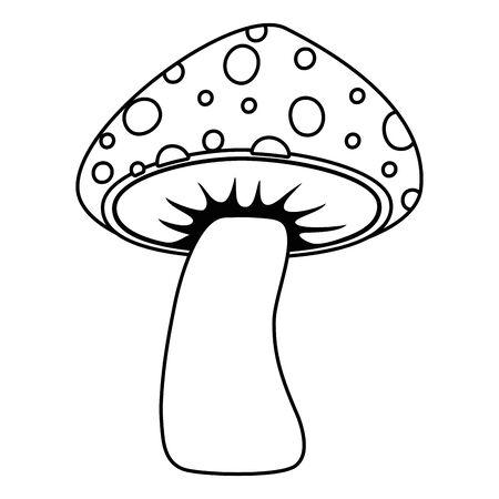 Isolated pointed fungi mushroom design vector illustration Stock Illustratie