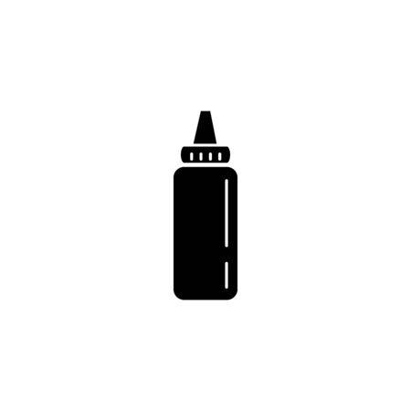 Sauce plastic bottle fast food accessory 向量圖像