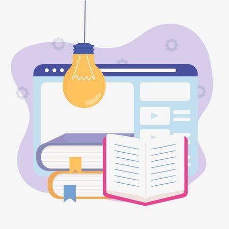 ebook web idea school education online image Ilustrace