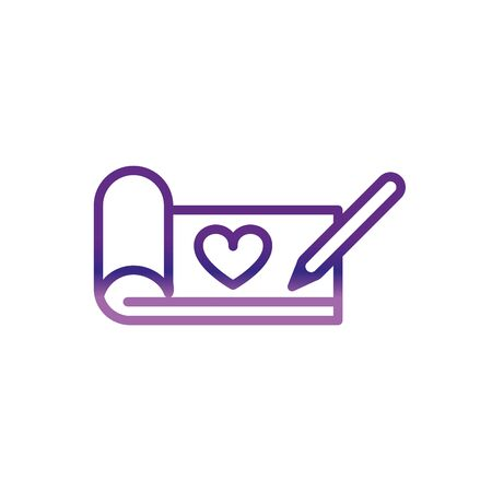 writing mesasge love charity help donation gradient line vector illustration Ilustracja