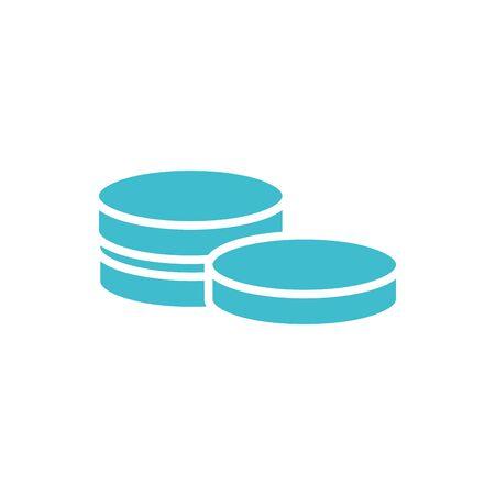 money coins business finance color silhouette vector illustration 일러스트