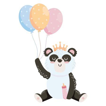 baby shower symbol and panda design