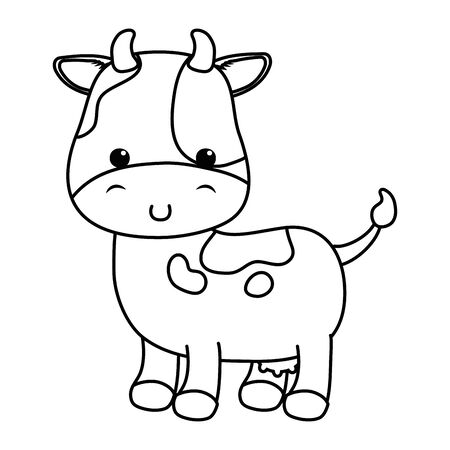 Cow on white Ilustrace