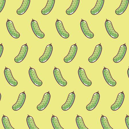 Cucumbers pattern background
