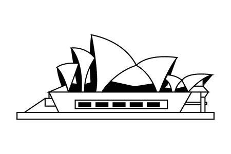 Opera house in Sidney design, Travel trip vacation tourism and journey theme Vector illustration Vettoriali