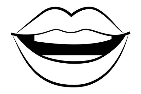 pop art comic lips cartoon