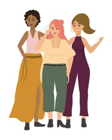Avatars of fashion women design Ilustração