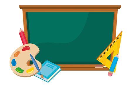 Isolated blackboard of school design vector illustration Standard-Bild - 133328900