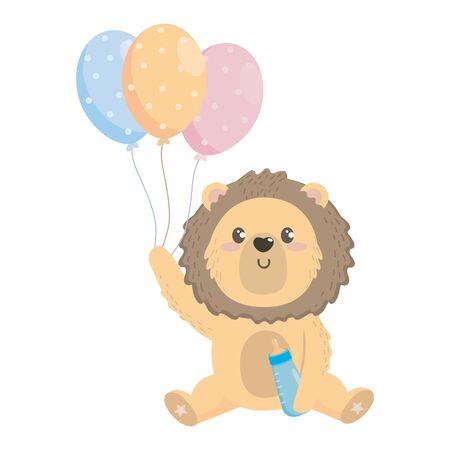 baby shower symbol and lion design