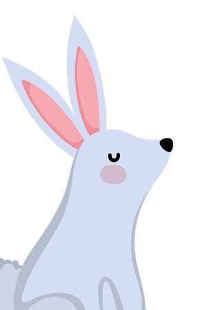 Rabbit cartoon design, Animal cute zoo life nature and fauna theme Vector illustration Ilustrace