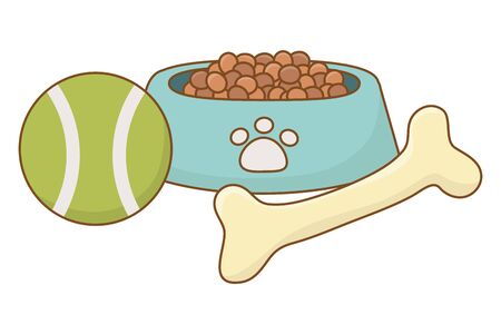 Food and toys for dog design