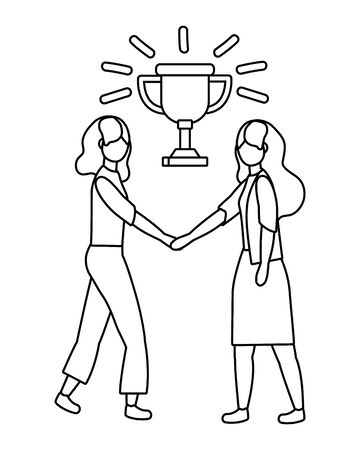 Businesswomen avatar cartoon design vector illustration