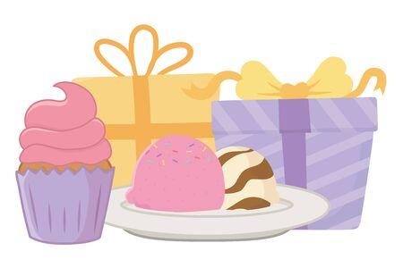 Happy birthday surprise design vector illustration Archivio Fotografico - 133331534