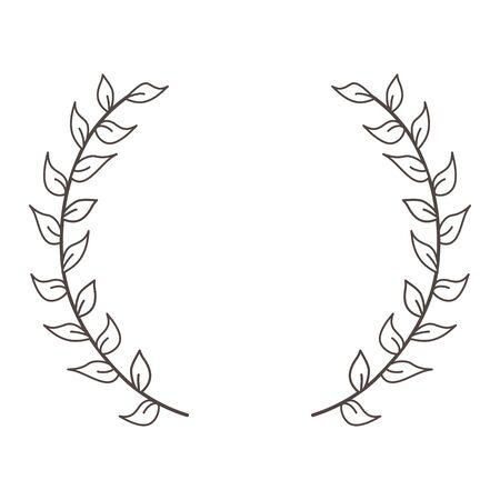 Isolated decoration wreath design vector illustration Stock fotó - 133488722
