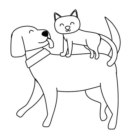 Cat and dog cartoon design Standard-Bild - 133332917