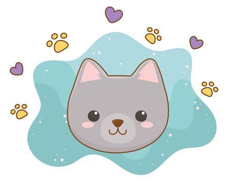Isolated cat cartoon design vector illustrator
