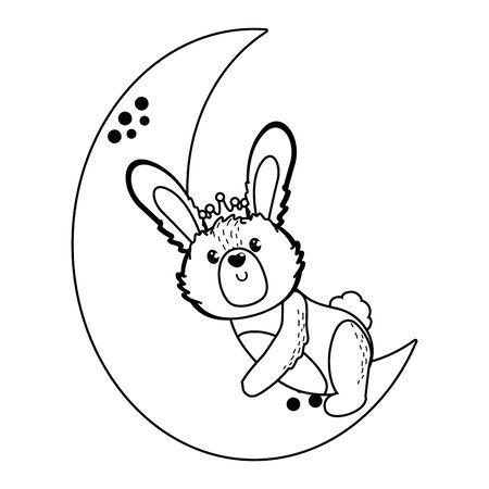 Rabbit cartoon design vector illustration