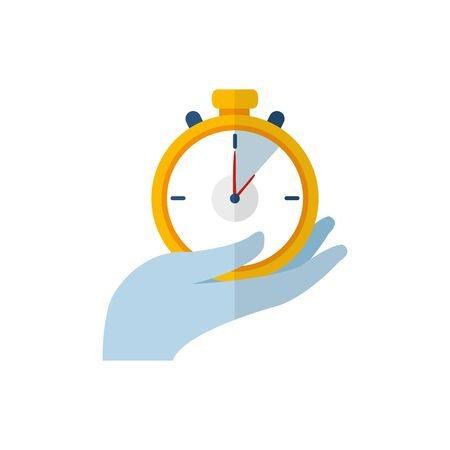 Isolated chronometer flat vector design