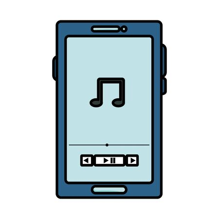 smartphone with music player application