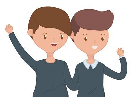 Teenage boys friends design vector illustration