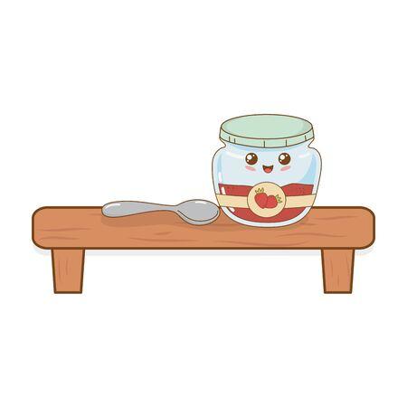 strawberry jam pot in shelf character
