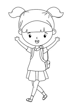 Girl kid of school design