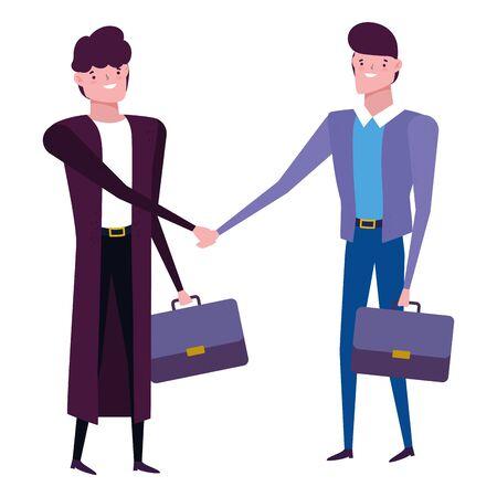 Businessmen avatar with suitcase design
