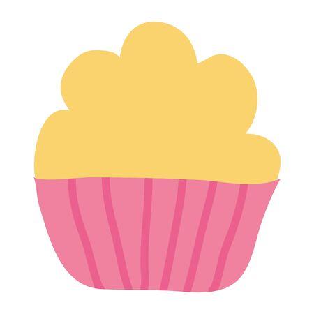 sweet cupcake pastry bakery icon Archivio Fotografico - 133333815
