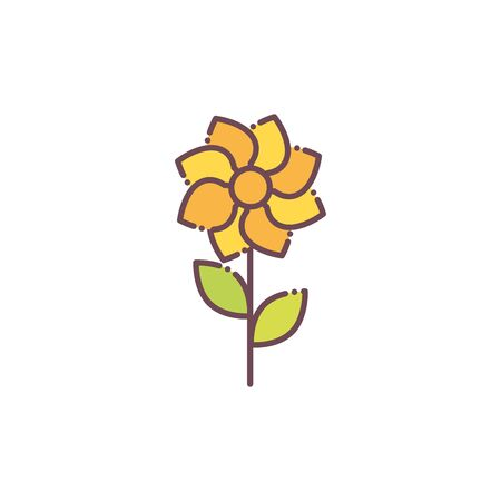 Isolated yellow flower icon vector design