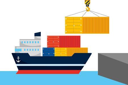 servicio de seguimiento de entrega logística de envío Ilustración de vector