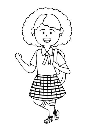 Girl kid of school design vector illustration