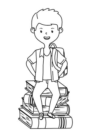 Boy cartoon of school design Stock fotó - 133488504
