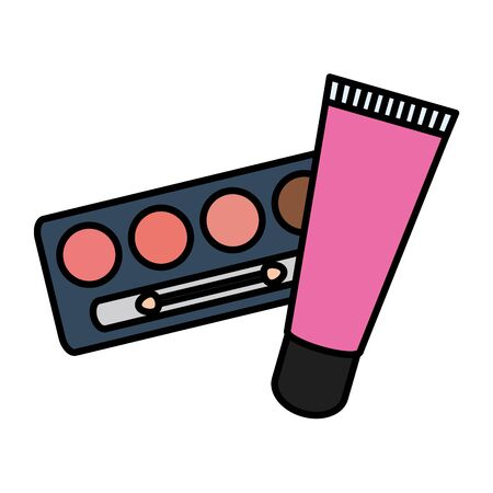 eye shadows and bright make up vector illustration design Illustration