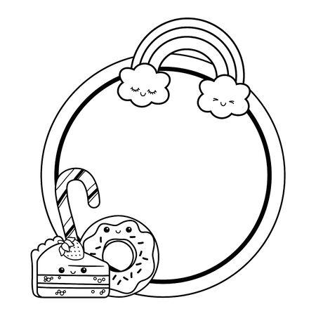 Sweet food design, dessert food delicious sugar snack and tasty theme Vector illustration Иллюстрация