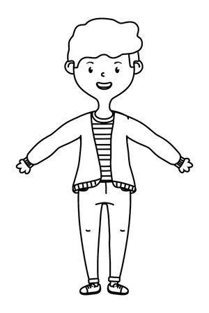 Isolated teenager boy cartoon design