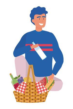 Man cartoon having picnic design Reklamní fotografie - 133488239