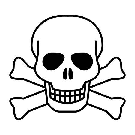 Isolated skull head design vector illustration