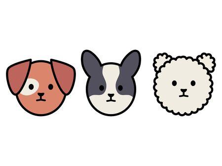 little dogs adorables mascots characters Foto de archivo - 133488193