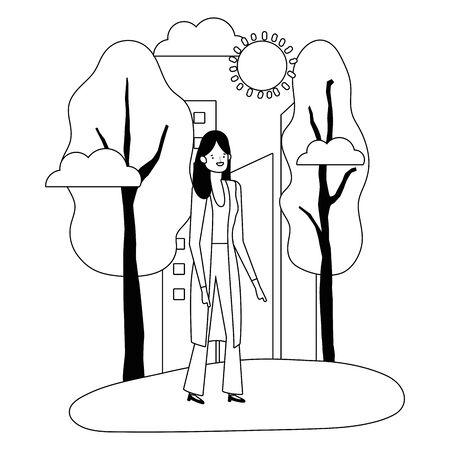 Isolated avatar woman vector design