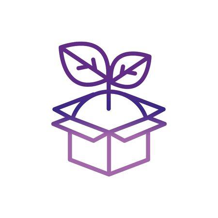 cardboard box plant charity help donation Stock Illustratie