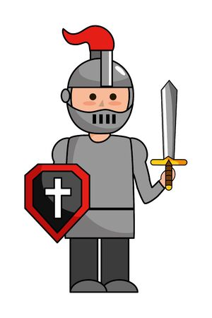 Isolated medieval knight design vector illustration Ilustrace