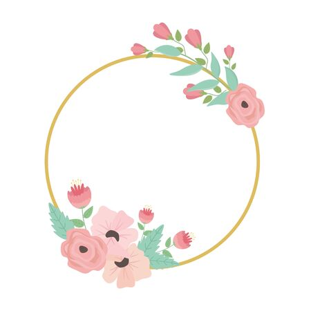 Isolated flowers circle design vector illustration 일러스트