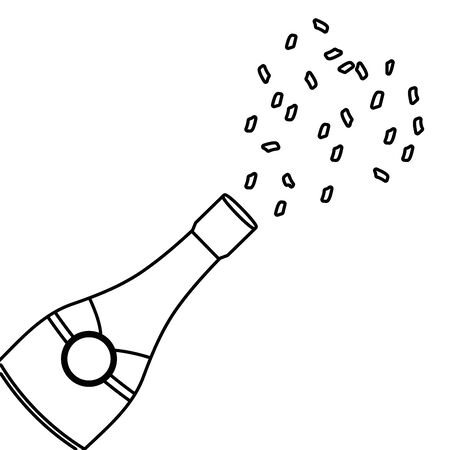 Isolated champagne bottle design vector illustration