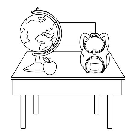 Teacher desk of school design vector illustration