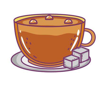 Isolated coffee cup vector design Archivio Fotografico - 133488096