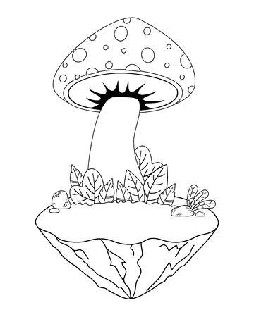Isolated pointed fungi mushroom design vector illustration 向量圖像