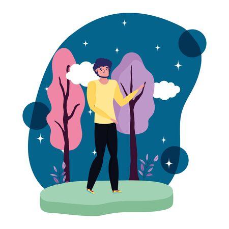 Avatar of a man design, Boy human and attractive theme Vector illustration Illustration