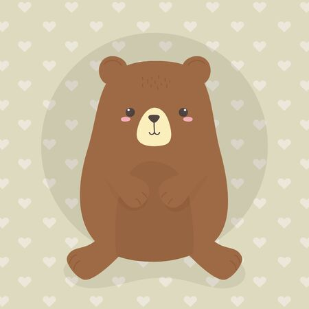 cute bear teddy wild character
