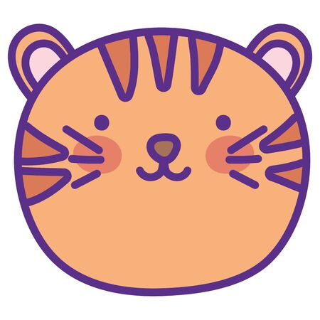 Isolated tiger cartoon vector design