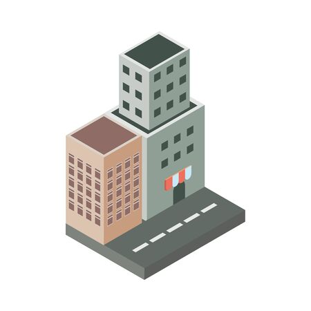 Building icon design, Real estate residential architecture property construction and city theme Vector illustration
